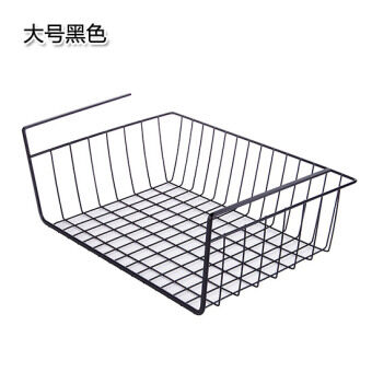 Kitchen Cabinet partition under the hanging basket wardrobe finishing storage rack storage basket office table layered glove rack storage basket
