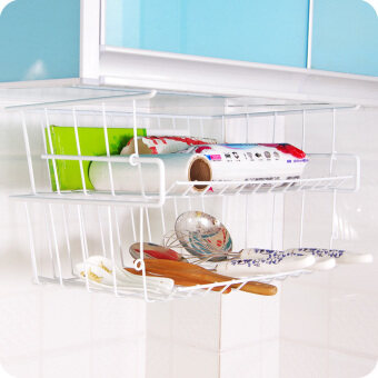 Kitchen closet metal frame refrigerator rack shelving rack multi-layer stack wardrobe dormitory storage basket table under shelves single