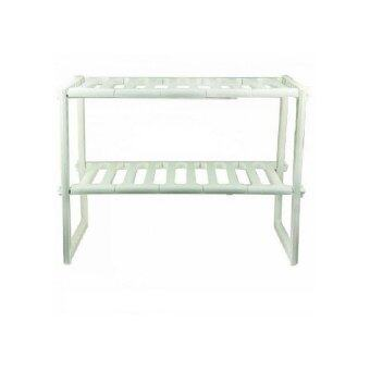 Kitchen multipurpose shelf organizer white lazada malaysia for Bathroom cabinets 70cm wide