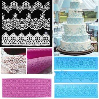Lace Silicone Mold Mould Sugar Craft Fondant Mat Cake DecoratingBaking Tools