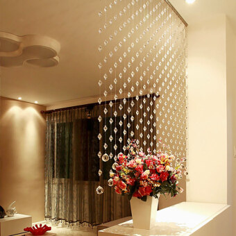 Line hanging half hanging curtain crystal bead curtain
