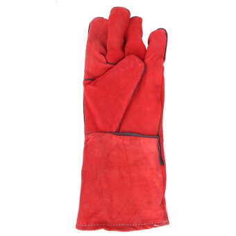 Long leather welding gloves Welding Welder gloves protective laborgloves insulation wear and work gloves