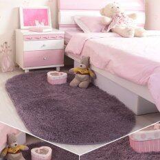 Lorca Anti Skid Bedside Rugs Kitchen Floor Rug Velvet Living Room Carpet Super Soft Fuzzy Dark Grey