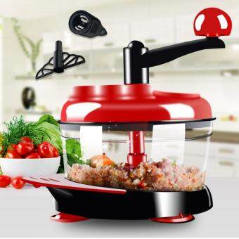 Manual Food Processor Hand-Powered Miracle Chopper Baby MultiVegetable Chopper Meat Grinder Fast Salsa Maker Food Mixer Blenderto Chop Meat Fruits Vegetables Nuts Herbs Onions Garlics