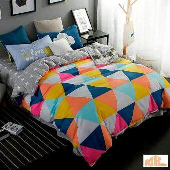 Maylee High Quality 4pcs Colourful Triangle Queen Bedding Set (FM-TRI)