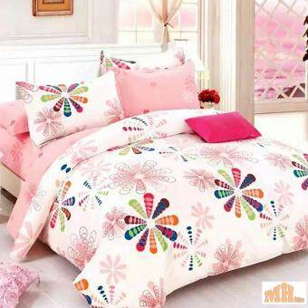 Maylee High Quality Cotton 2pcs Single Fitted Bedding Set 450TC Flower