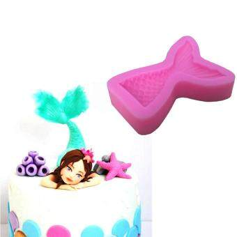 Mermaid Fish Tail Silicone Fondant Cake Sugar Paste Chocolate Mould Mold