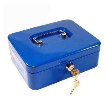 Metal Petty Cash Box 10 Blue Lazada Malaysia