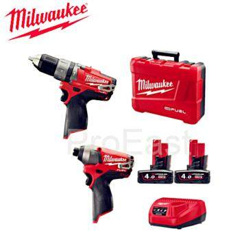Milwaukee FUEL Cordless Battery Compact Impact Drill Driver M12 CPD-402C