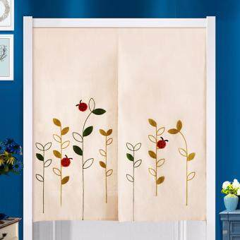 Mimosifolia Door Curtains Bedroom curtain Room Dividers curtain 42.5X150CM 2piece /set