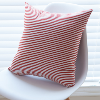 Modern minimalist cotton large striped pillow case sofa cushion