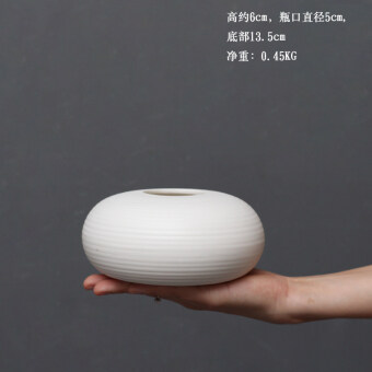 Modern minimalist white ceramic vase flower home living roomdecorative ornaments office shop entrance furnishings