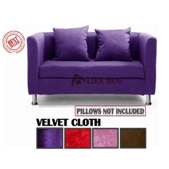 MUEBLES: Living Room 2 - Seater Velvet Designer Sofa