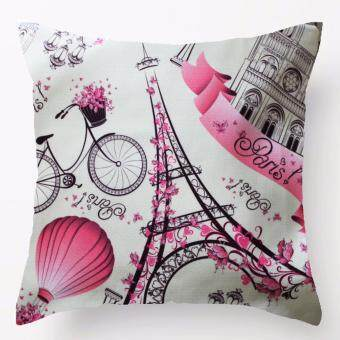 MYhouz Paris Eiffel Tower Cushion Cover
