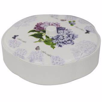 NaVa Festival Floral Multipurpose Cookie Box Platter Dry FruitContainer Storage (PURPLE)