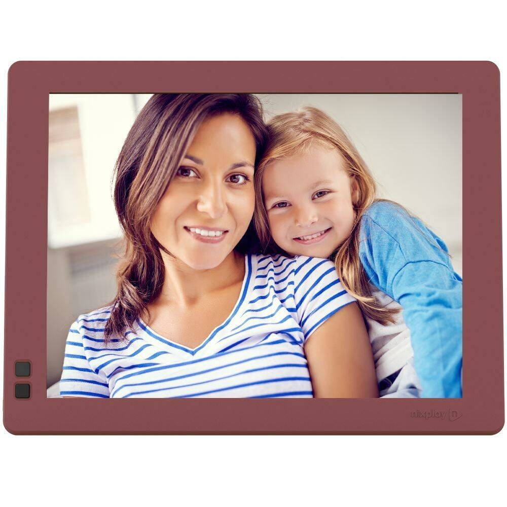 nixplay seed 10 inches wifi cloud digital photo frame mulberry