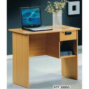 OFFICE TABLE / STUDY TABLE WITH DRAWER / CABINET / WRITING TABLE (VTF300G) CHERRY COLOUR