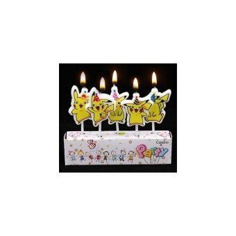 Party Time Pikachu Birthday Candle Set