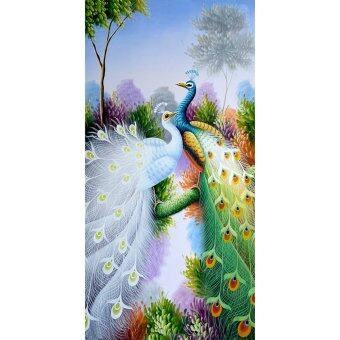 Peacock Pattern Embroidery 5D Diamond DIY Painting Craft Home Decor