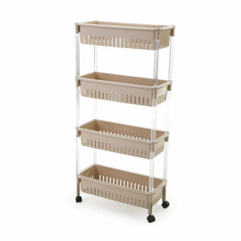 Plastic Bathroom toilet hand washing room multi-layer storage rack shelf