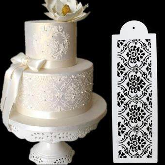 Plastic Cookie Cake Stencil Fondant Tool Decoration for CakeWedding Flower White