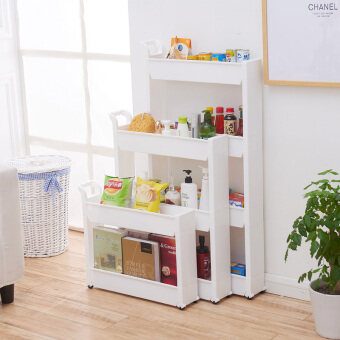 Plastic kitchen multi-layer refrigerator storage rack shelf