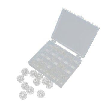 Plastic Sewing Machine Spools Thread Storage Case Box with 25Single Bobbin
