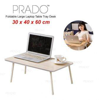PRADO Foldable Laptop Wood Table Notebook Large Bed Desk 40x60cm HL-TAB-01 - WHITE