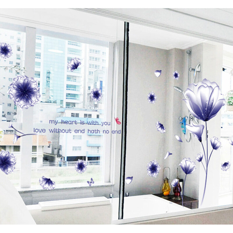 12pcs creative acrylic room decal 3d flowers wall stickers for Room decor lazada