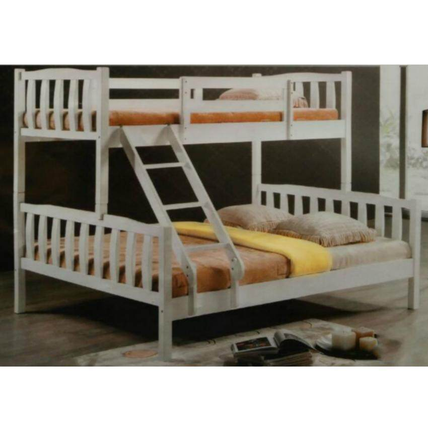 Dhome ha bl4112 single metal vantage day bed white lazada malaysia - Double decker daybed ...