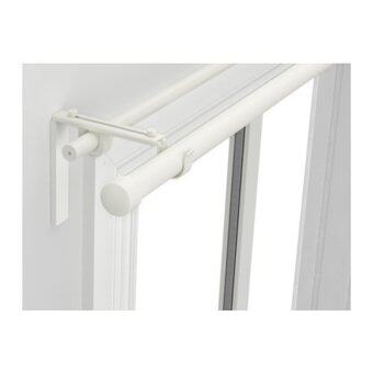 RACKA / HUGAD Double Layer Adjustable Length Curtain Rod - White (120 - 210 cm )