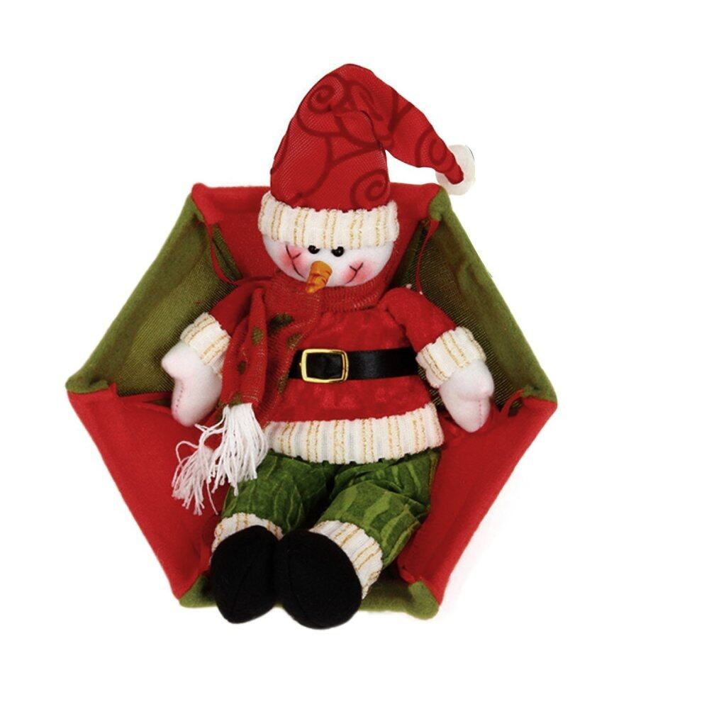 Christmas tree hanging decorations new parachute santa claus snowman - Red And Green Snowman Plush Doll Parachute Christmas Tree Hanging Decoration Lazada Malaysia