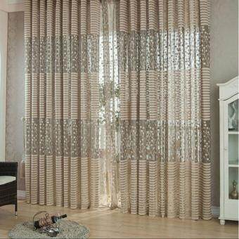 Room Leaf Tulle Door Window Curtain