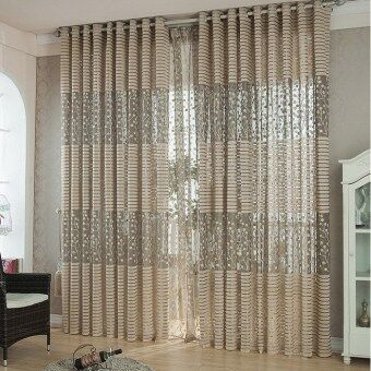 Room Leaf Tulle Door Window Curtain Drape Panel Sheer ScarfsValances Hot-