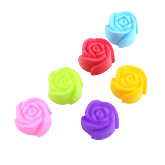 Rose Flower Silicone Cake Chocolate Mold Pan Muffin Cups MouldSugarpaste
