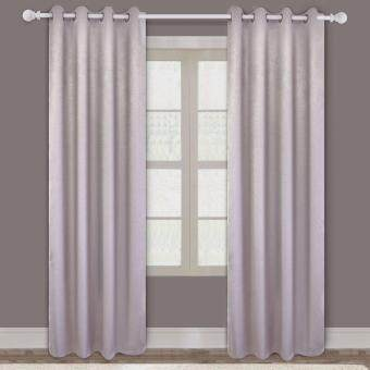 SET OF 2PCS : Essina Eyelet Curtain Blackout 100cm x 260cm - ZIVAGREY (fit window/sliding door up to 150cm width)