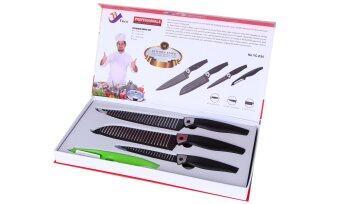 Set of 4 non stick kitchen knives lazada malaysia for Kitchen set non stick