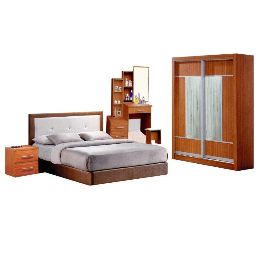 Nico pu heavy duty divan bed queen cappucino lazada malaysia for Queen divan bed base