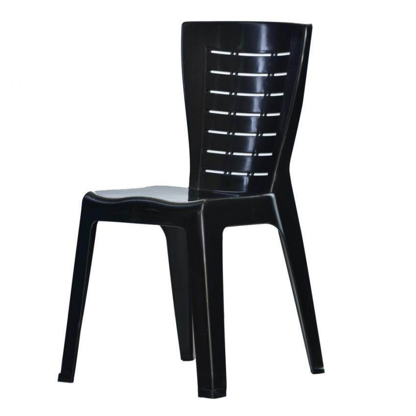 Set Of 2 Elastic Fit Dining Chair Cover Black Design Lazada Malaysia