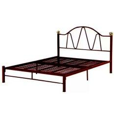 sg tan metal queen size bed frame black 1 year warranty