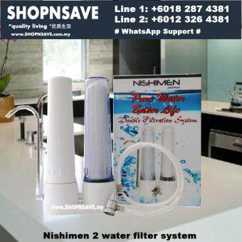 SHOPNSAVE 2 water filters system, Nishimen 2 Stages Filtration Water Filter System, Water Filter, Water Purifier,Water Filter