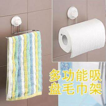 Shuangqing punched toilet bathroom shelf suction cup towel rack