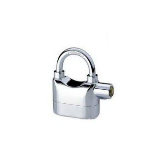 SILVER Steel Padlock with Built-in Alarm
