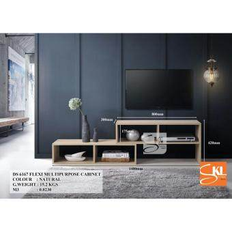 SKL6167 FLEXI MULTI PURPOSE CABINET/ TV CONSOLE WITH EXTENSION(Natural Oak)