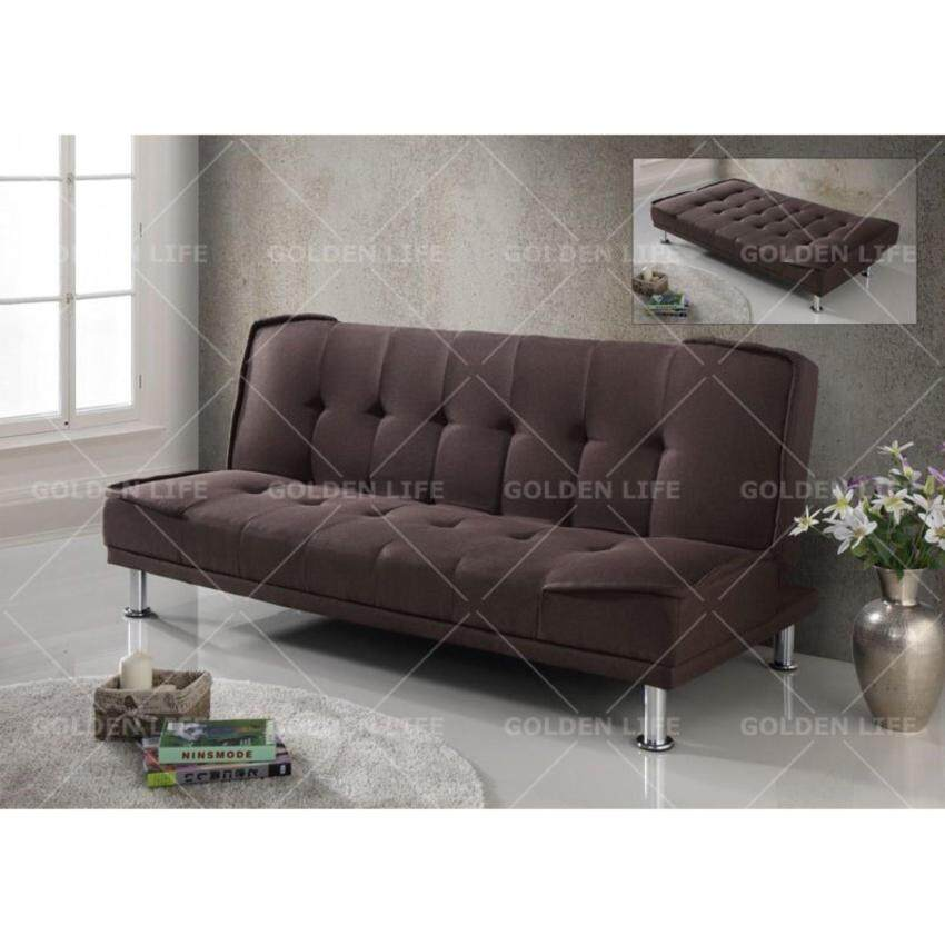 quincy futon sofa bed with solid wood arm lazada malaysia