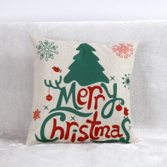 Sofa office Christmas elk tree gift cushion pillow