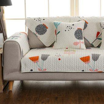 Sofa on the single 1 + 2 + 3 combination of three sets of cushion