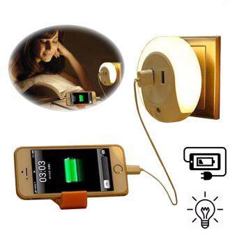 SOKANO Multipurpose Night Light with 2 USB Port (Free Malaysia 2 Pins Adapter)