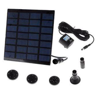 Solar-Powered Pump Brushless DC Solar Water Pump Power FountainPool Water Pump Garden Plants Watering Kit solar pond pumpkit(Black)
