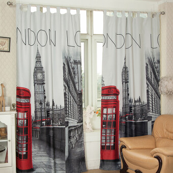 Style British European bedroom finished product curtain trade curtains
